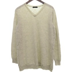 UNDER COVER whole pattern high gauge knit ivory size: 2 (under cover)