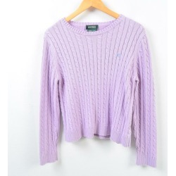 Ralph Lauren Ralph Lauren LAUREN Lauren cable knitting cotton knit sweater Lady's L /wbc8848