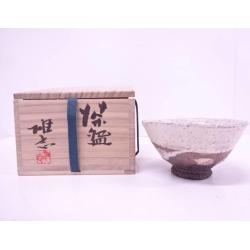 常滑焼伊藤雄志造粉引茶碗 [Japanese dishes / Matcha porcelain bowl / Matcha bowl / tea ceremony / tea set / tea service set / curio / tea]
