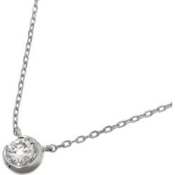 Star jewelry moon setting diamond necklace /D0.07ct