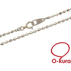 Ball chain necklace Lady's Pt850 7.1 g platinum jewelry Japanese cypress deep-discount pawnshop exemption from taxation A170885