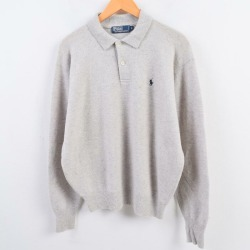 Lamb's wool knit sweater men L /wbh8305 with the Ralph Lauren Ralph Lauren POLO by Ralph Lauren collar
