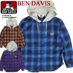 Shirt Ben Davis 2019AW shirt parka American casual street casual men fashion tops BEN-1421 with the BEN DAVIS long sleeves shirt men check shirt parka Ben Davis food shirt checked pattern food