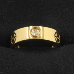 Cartier love ring / half diamond #49 (the Japanese size 9 neighborhood)