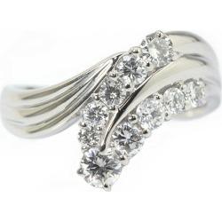 Diamond ring 1.04ct Pt900 19 platinum ring 03395