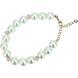 The combination bracelet (product made in Japan) of an imitation pearl and cut beads [cancellation, change, returned goods impossibility]