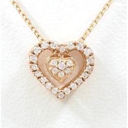 フォリフォリ 10K PG necklace zirconia box used jewelry ★★ giftwrapping for free
