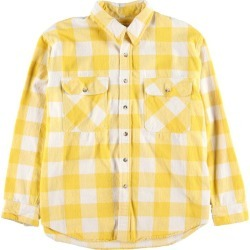 Men L vintage /wbf8445 in the 80s made in ST JOHN'S BAY buffalo check long sleeves heavy flannel shirt USA