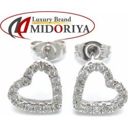 Vendome Aoyama VENDOME AOYAMA heart pierced earrings diamond K18WG white gold /099408