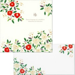 18 pieces of pattern camellia PD-555/EV-555 (Skywarrior) frontier letter paper 2 patterns, envelope six pieces letter letter saliva comes in letterset winter