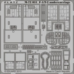Detail up etching parts (for the leg circumference) for Platz 1/72 Air Self-Defense Force F-1