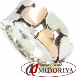 Star jewelry STAR JEWELRY heart ring K18PGxSV925 silver pink gold 6 ring /092150