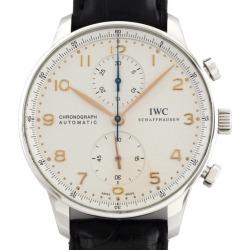 IWC ポルトギーゼ IW371401 chronograph SS/ leather automatic car
