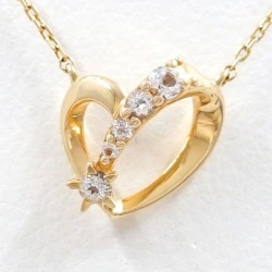 Star jewelry K10YG necklace white topaz used jewelry ★★ giftwrapping for free
