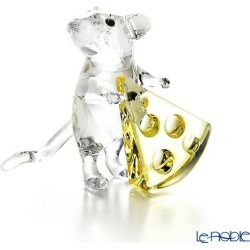 Swarovski mouse and cheese SWV5-464-939 19AW Swarovski animal ornament art object doll フィギュリンインテリア