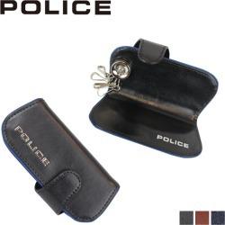 Four POLICE police key case key ring men leather TERAIO KEY CASE black navy dark brown black PA-58003 [7/30 Shinnyu load]