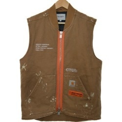 The HERON PRESTON x Carhartt WIP 18AW embellished cotton vest best