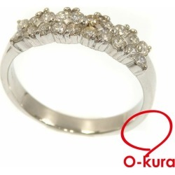 Diamond ring Lady's Pt900 14 0.55ct 4.8 g platinum diagram ring deep-discount pawnshop exemption from taxation A6023016