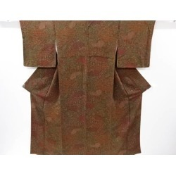 It is flower arabesque design fine pattern kimono sect sou in a crepe place classic pattern