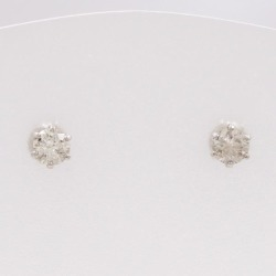 PT900 platinum pierced earrings diamond 0.15*2 used jewelry ★★ giftwrapping for free