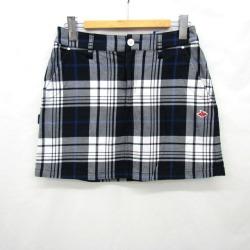 PEARLY GATES gone Lee Gates skirt mini-055-5234852 check white blue-black trapezoid GOLF golf wear sportswear size 0 Lady's T Higashiosaka shop