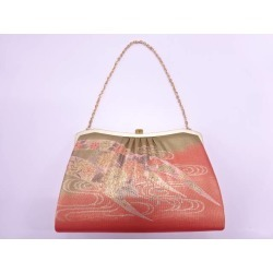 It is getting out flower design texture bag sect sou in Japanese dress to running water