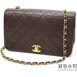Chanel matelasse chain shoulder bag Bordeaux lambskin classical music oar flap here mark twist lock flap bag quilting vintage #01 CLASSIC CHAIN FULL FLAPBAG