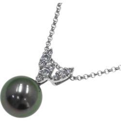 Tasaki black butterfly pearl diamond necklace