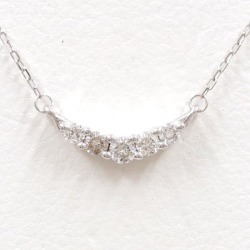 K18 18-karat gold WG white gold necklace diamond used jewelry ★★ giftwrapping for free