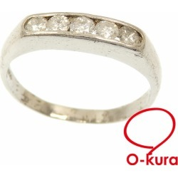 Diamond ring Lady's Pt900 19 0.50ct 4.3 g platinum diagram ring deep-discount pawnshop exemption from taxation A2175673