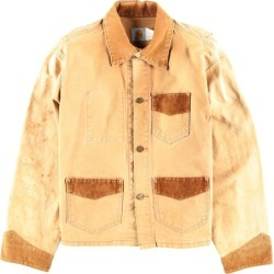 Men L vintage /wbi3328 in the 80~90 generation made in car heart Carhartt back embroidery corduroy reshuffling duck place cover oar USA