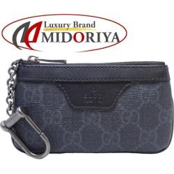 409211 Gucci GUCCI coin case coin purse GG スプリーム PVC black ☆ unused /046324