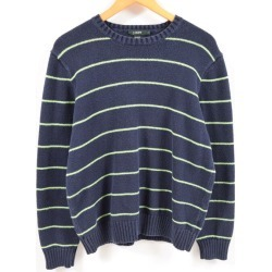 J. Crew J.Crew horizontal stripes cotton knit sweater men L /wbc1615