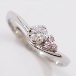 Suite PT900 ring 7 pink diamond diamond 0.15 used jewelry ★★ giftwrapping for free