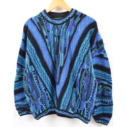Men M /wbg6841 made in TUNDRA Cousy style whole pattern cotton knit sweater Canada