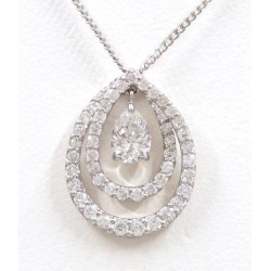 PT900 platinum PT850 necklace diamond 0.393 SI1 0.56 appraisal used jewelry ★★ giftwrapping for free