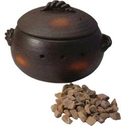 Hot baked sweet potato pan round shape (very much) 萬古焼焼 potato device pot pot hot baked sweet potato hot baked sweet potato