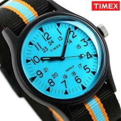 Timex watch MK1 aluminum men gap Dis TW2T25400 TIMEX clock California 40mm blue X black