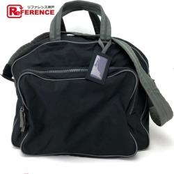 PRADA Prada trip bag 2WAY bag shoulder bag sports Boston bag nylon X leather / black Lady's