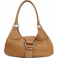 PRADA (Prada) tote bag shoulder tea brown leather netshop