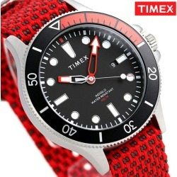 Timex Allied Corp. coastline men watch TW2T30300 TIMEX clock black X red