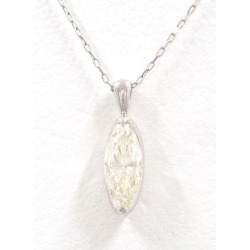 PT900 platinum PT850 necklace yellow diamond 0.546 SI2 appraisal used jewelry ★★ giftwrapping for free