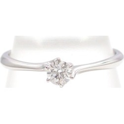 Star jewelry PT950 ring 8 diamond 0.154 VVS2 box appraisal used jewelry ★★ giftwrapping for free