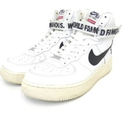 SUPREME X NIKE 14AW AIR FORCE 1 HIGH SUPREME SP 698,696-100 sneakers white size: 27. 5cm (シュプリームナイキ)