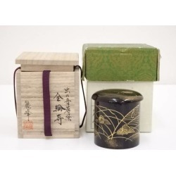 Sound lacquer work iron ring temple jujube [tea ceremony / tea set / tea service set / curio / tea / jujube] of 佐々木麗峰造漆塗虫