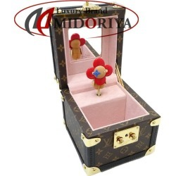 MINT! Authentic LOUIS VUITTON Monogram Boite A Musique Music Box GI0267 /045907 FREE SHIPPING