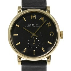 Mark by mark Jacobs BAKER/ Baker quarts watch Small second leather belt /SS/stainless steal/MBM1269/ black X gold-collar /Marc by Marc Jacobs ■ 291907