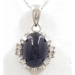 PT900 platinum PT850 necklace sapphire used jewelry ★★ giftwrapping for free