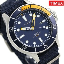 Timex Allied Corp. coastline men watch TW2T30400 TIMEX clock blue