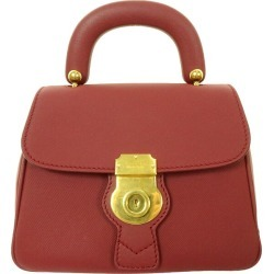 "BURBERRY LONDON ENGLAND ""Small DK88"" 2WAY leather shoulder handbag TIVITP1262 antique red size: - (Burberry London)"